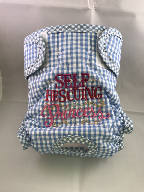 Self-Rescuing Princess on Blue Gingham