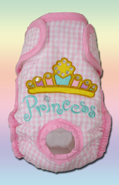 Princess Crystals on Pink Gingham